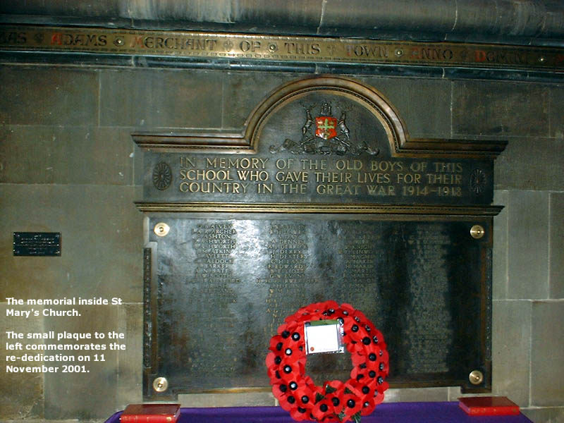 Great War Memorial Plaque