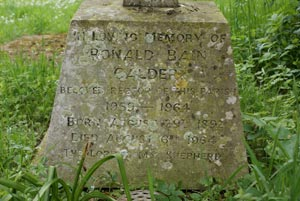 inscription on grave of R B Calder